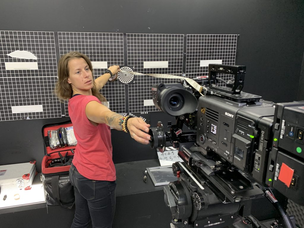 Camera Test Room in use