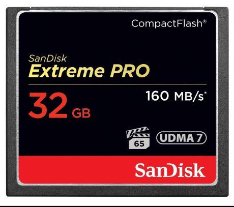 Sandisk 32GB CF High Performance 160MB-s Memory Card