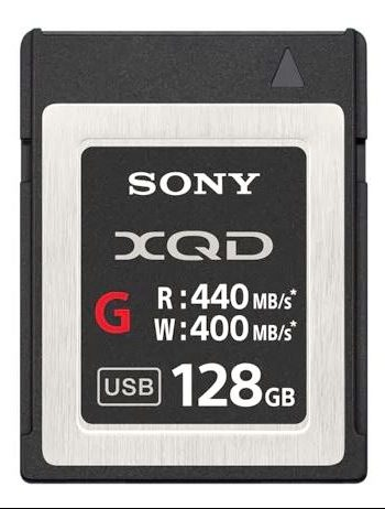 Sony XQD 128GB 400MB-s Memory Card for 4K 3-2